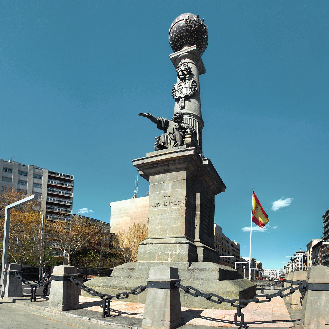 Monumento al Justicia de Aragón, Zaragoza