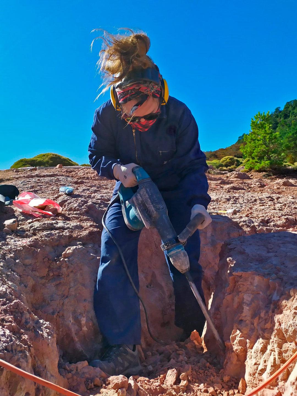 La dura vida del paleontólogo. ¿Cómo es una jornada de trabajo en la excavación paleontológica de Loarre?