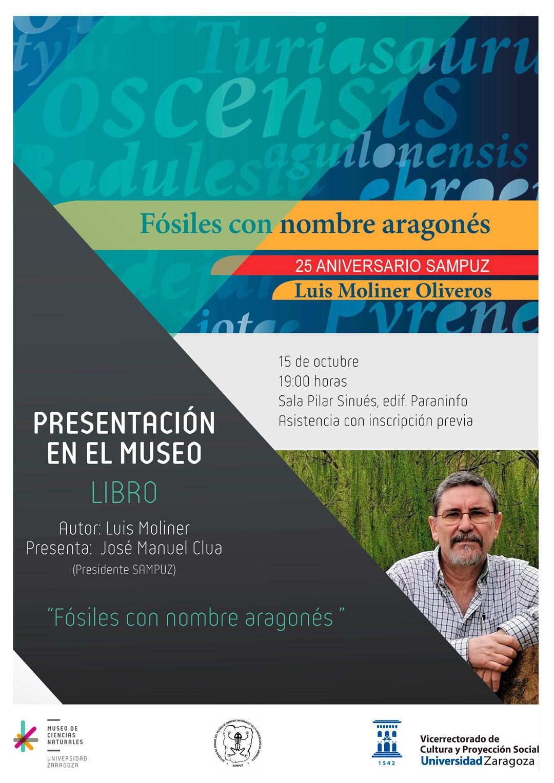 """Luis Moliner presenta el libro """"Fósiles con nombre aragonés"""""""