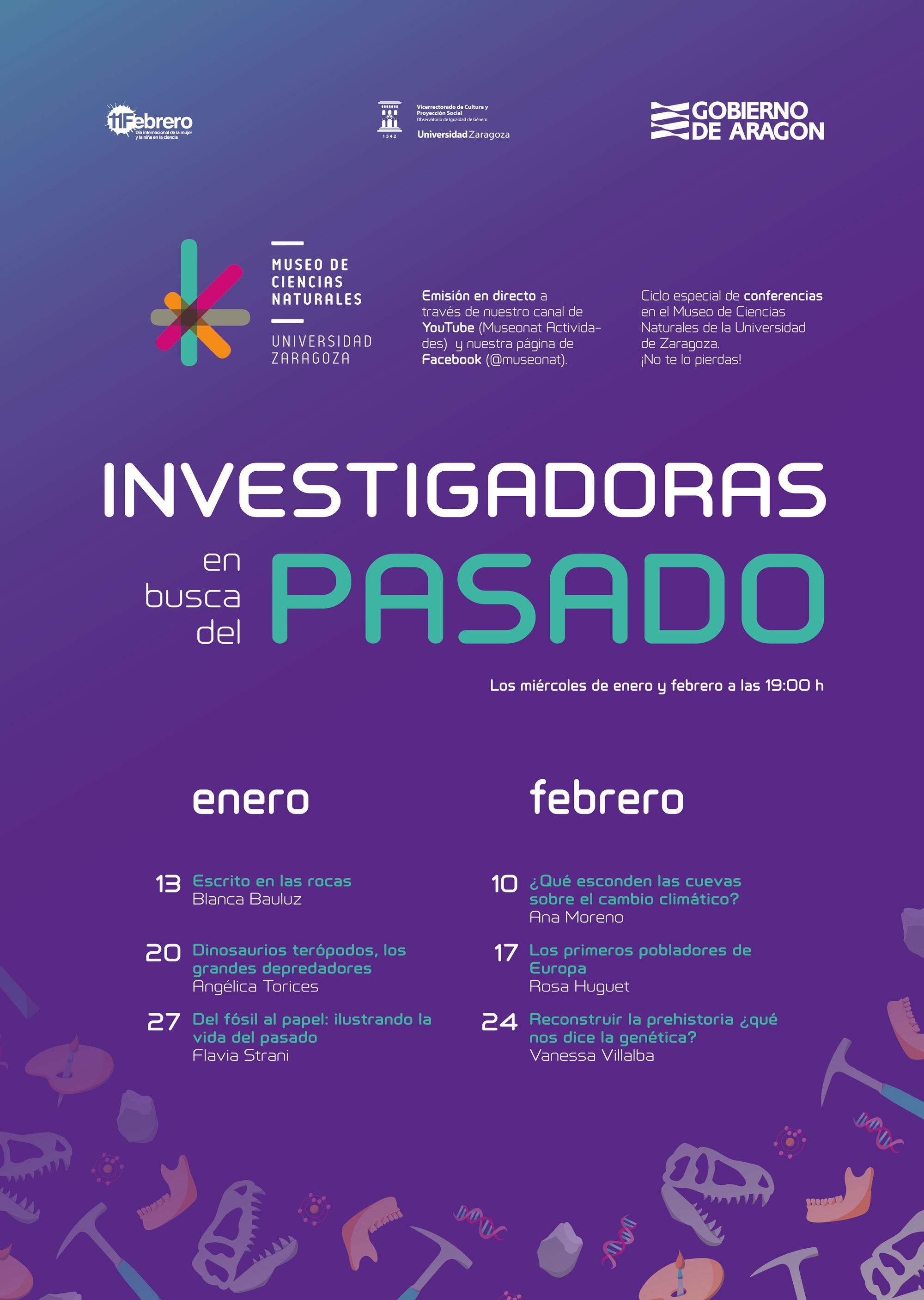 Investigadoras en busca del pasado, ciclo especial de conferencias