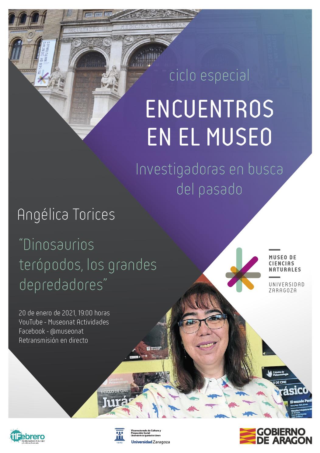 """Angélica Torices presenta su conferencia: """"Dinosaurios terópodos, los grandes depredadores"""""""