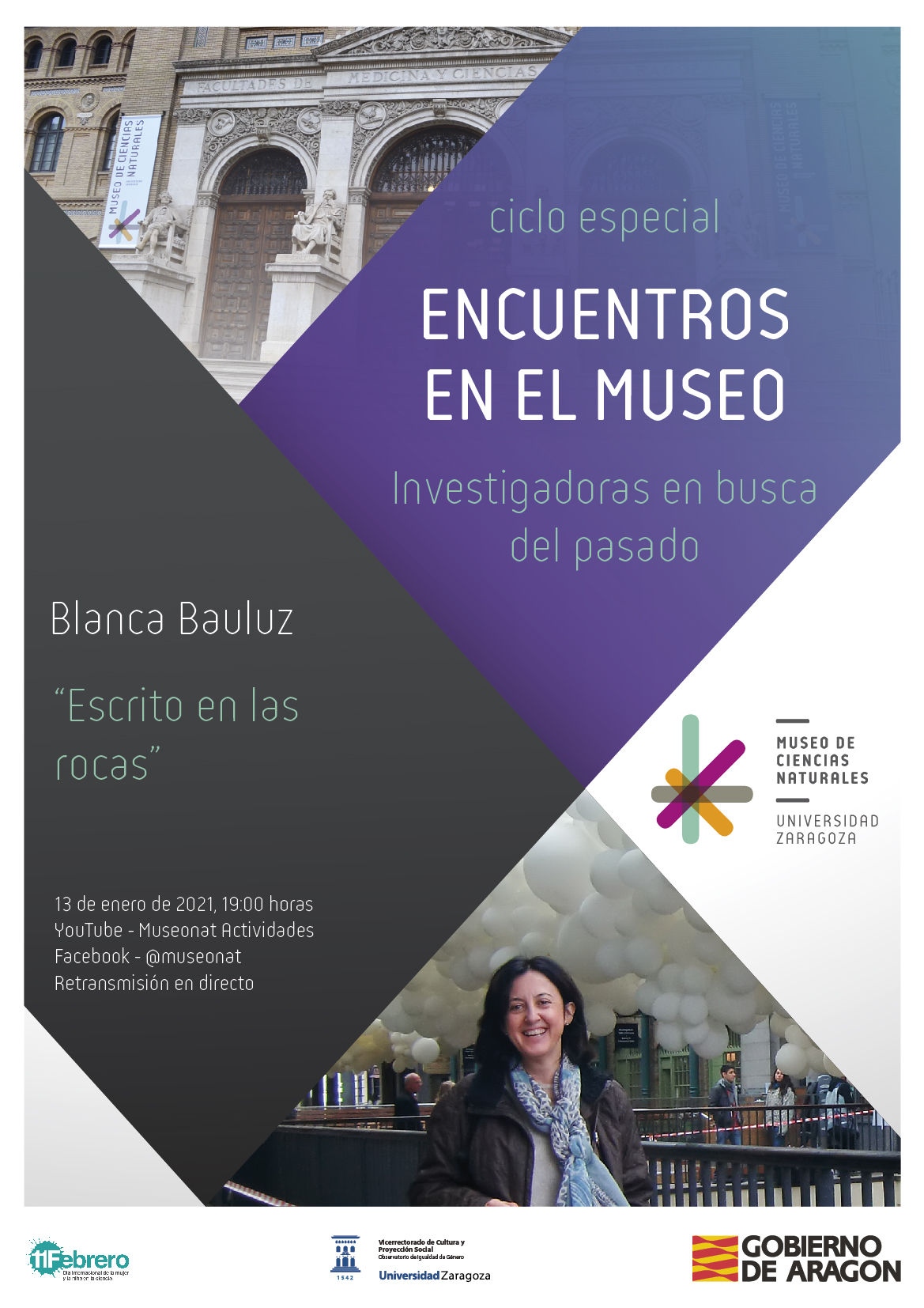 """Blanca Bauluz presenta su conferencia: """"Escrito en las rocas"""""""