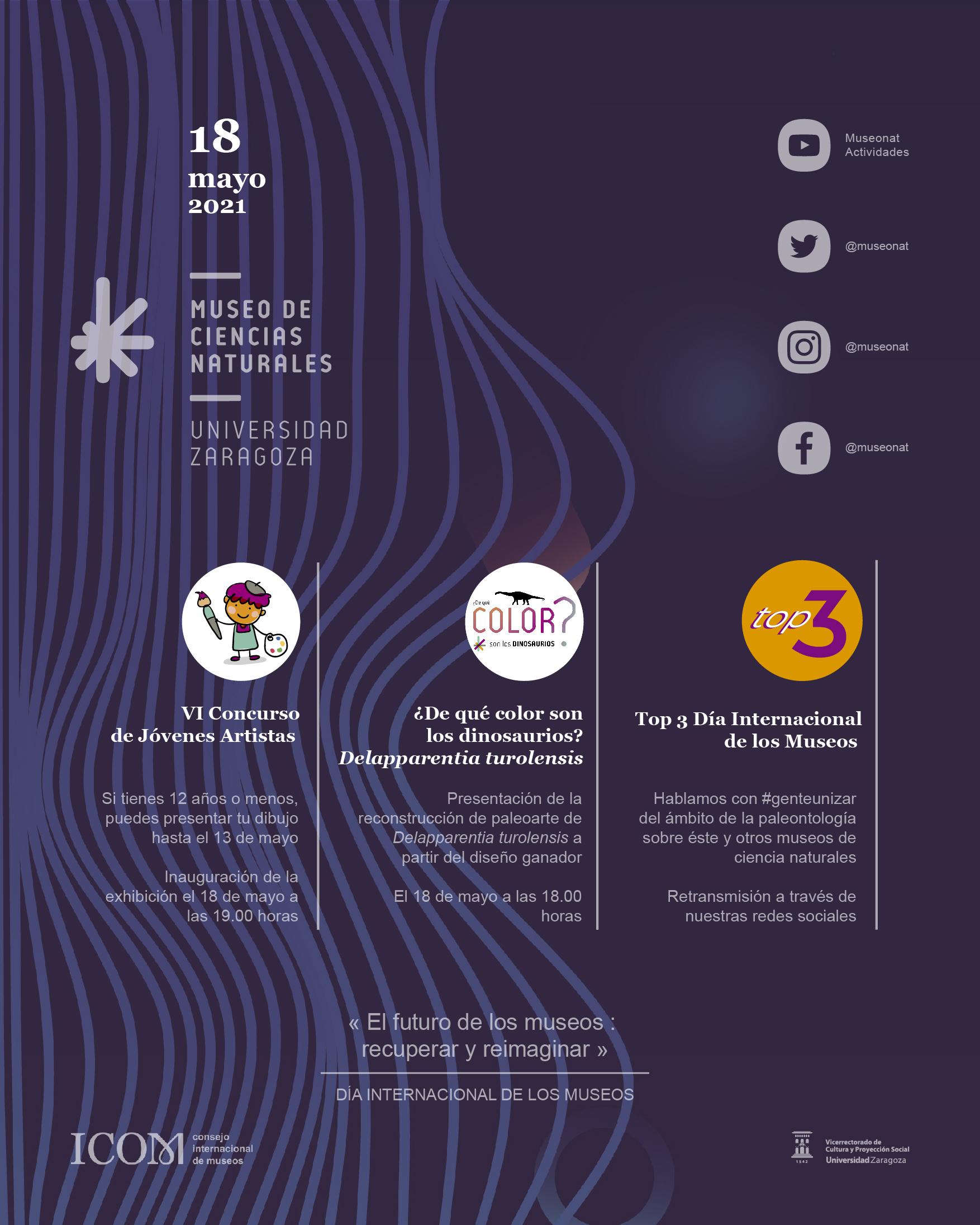 Programa de actividades con motivo del Día Internacional de los Museos 2021