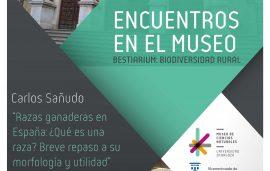 """20 de dic. Encuentros en el Museo: Carlos Sañudo """"Razas ganaderas en España: ¿Qué es una raza? Breve repaso a su morfología y utilidad"""""""
